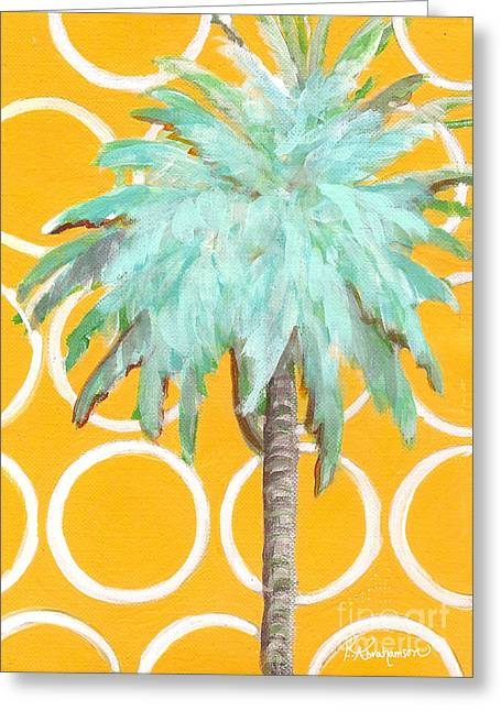 Yellow Delilah Palm Greeting Card