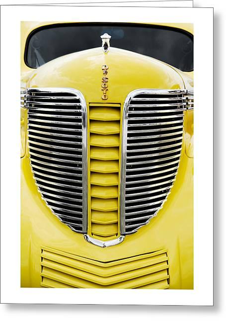 Yellow Desoto Grill Greeting Card by Patrick Chuprina