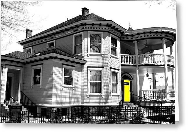Yellow Door Greeting Cards - Yellow Door Greeting Card by Will Borden