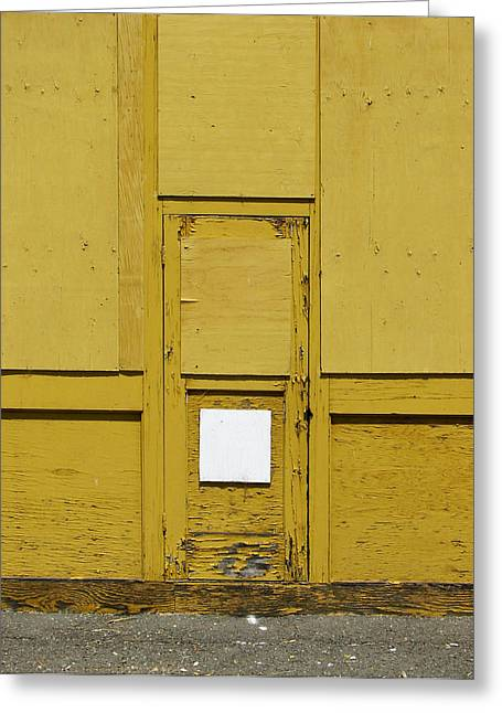 Yellow Door With Accent Greeting Card by Ben Freeman