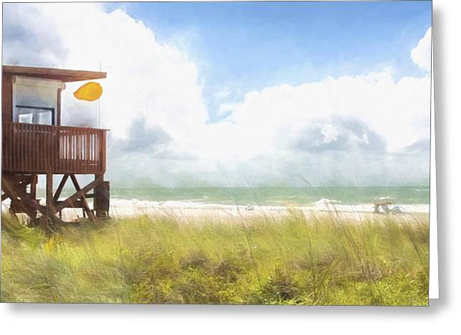 Yellow Flag, Santa Maria Island, Florida Greeting Card by Glenn Gemmell