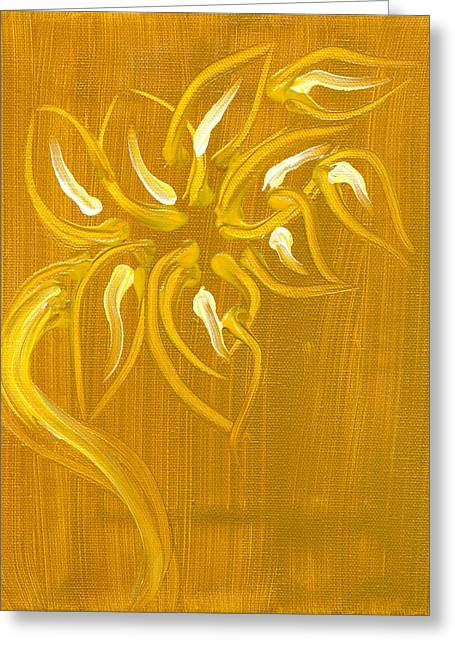 Yellow Flower 1 Greeting Card by Melissa Moore