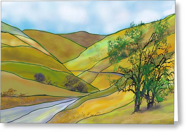 Yellow Foothills Greeting Card