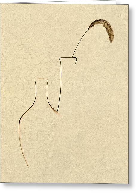 Yellow Foxtail With Vases Greeting Card by Tom Mc Nemar