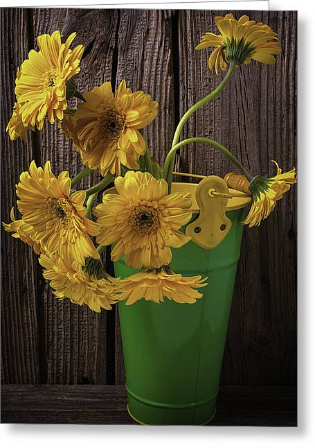 Yellow Gerbera Daises  Greeting Card by Garry Gay