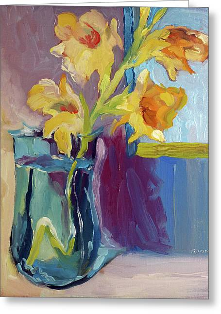 Yellow Glads 4.0 Greeting Card
