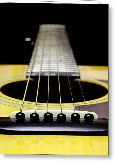 Andee Photography Greeting Cards - Yellow Guitar 17 Greeting Card by Andee Design