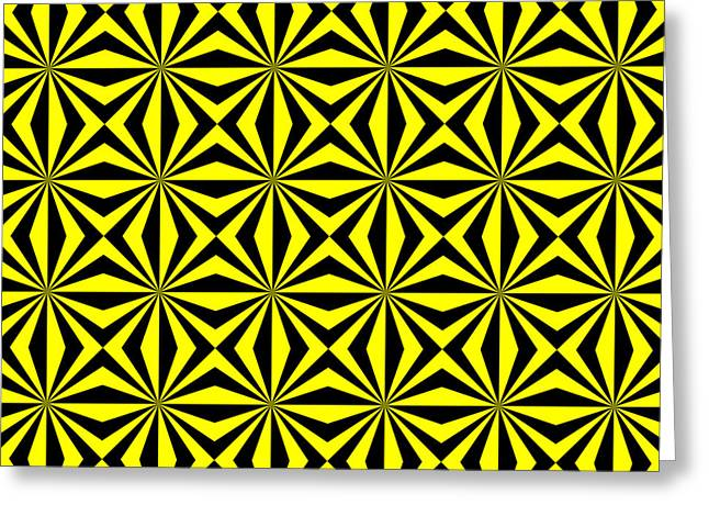 Greeting Card featuring the digital art Yellow Happiness by Lucia Sirna