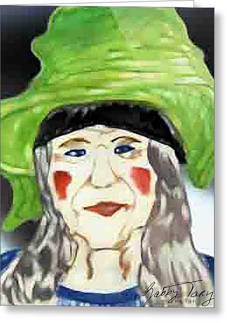 Yellow Hat Greeting Card