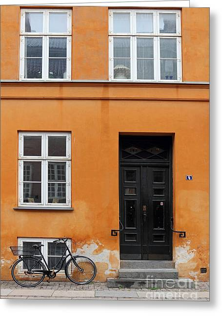 The Orange House Copenhagen Denmark Greeting Card