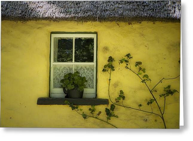 Yellow House County Clare Ireland Greeting Card