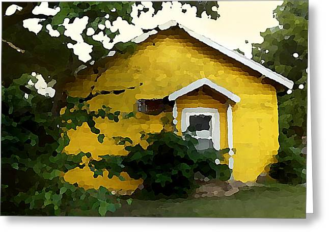 Yellow House In Shantytown  Greeting Card