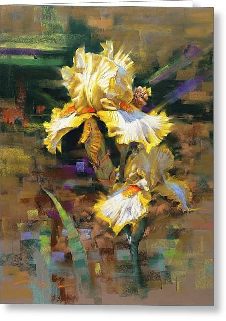 Yellow Iris II Greeting Card