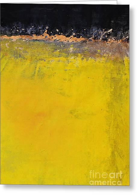 Yellow Is The New Black Greeting Card by WALL ART and HOME DECOR