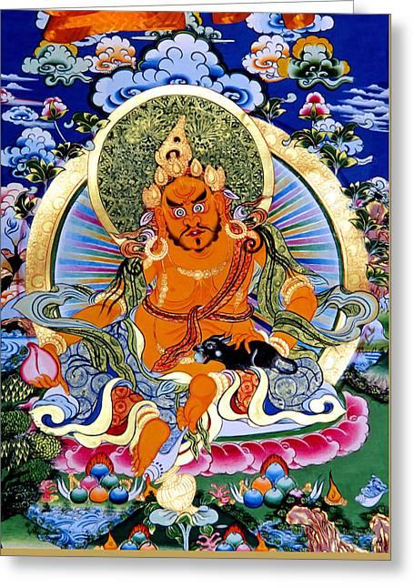 Yellow Jambhala 14 Greeting Card by Lanjee Chee