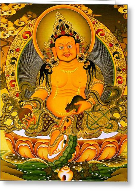 Yellow Jambhala 3 Greeting Card