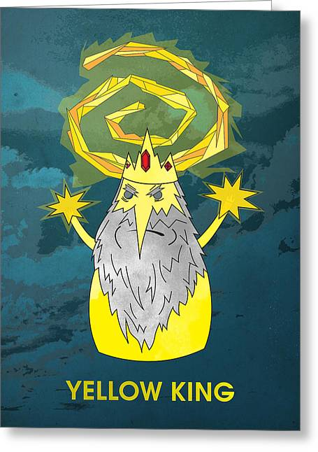 Yellow King True Detective Adventure Time Greeting Card
