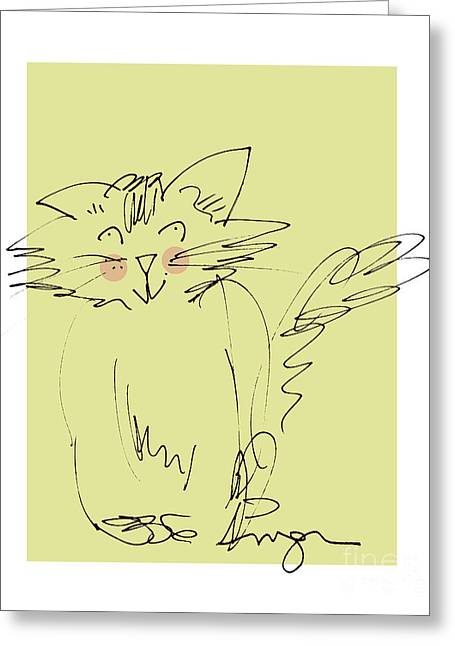 Yellow Kitty Greeting Card