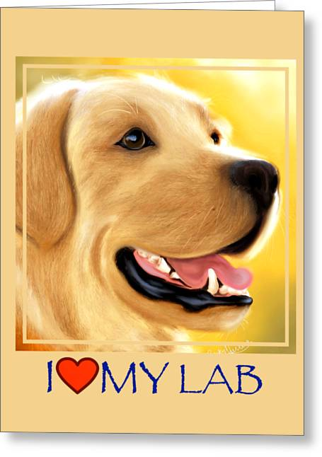 Yellow Lab Portrait Greeting Card