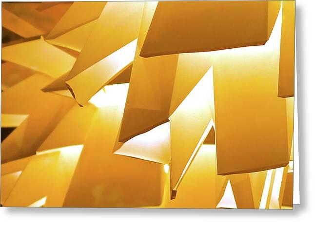 Yellow Lantern Abstract Greeting Card