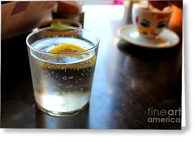 Yellow Lemon Greeting Card by Ram Photography