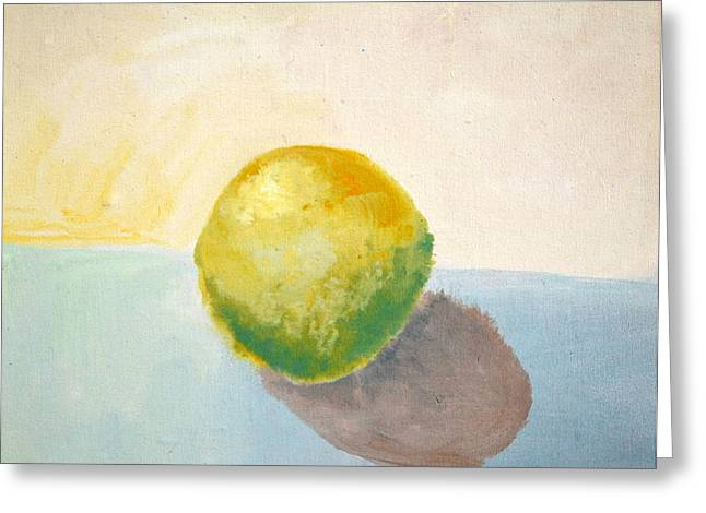 Yellow Lemon Still Life Greeting Card by Michelle Calkins