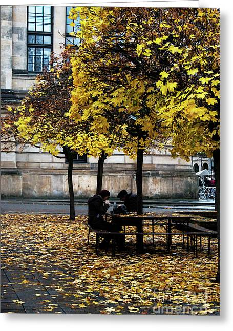 Yellow Lunch Greeting Card