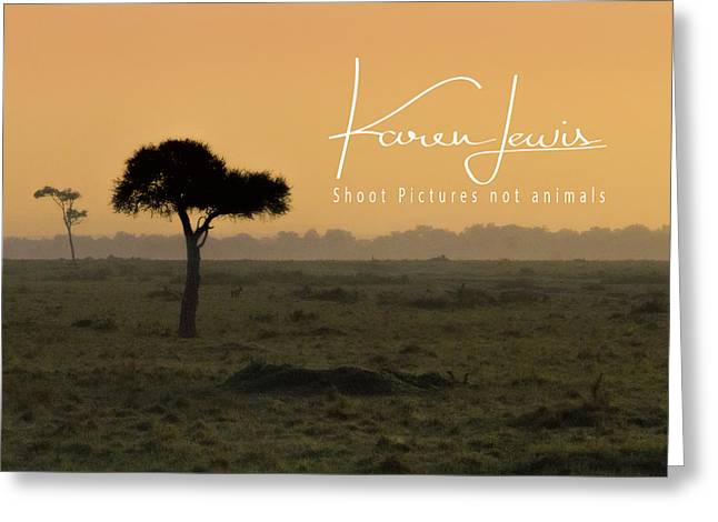 Greeting Card featuring the photograph Yellow Mara Dawn by Karen Lewis
