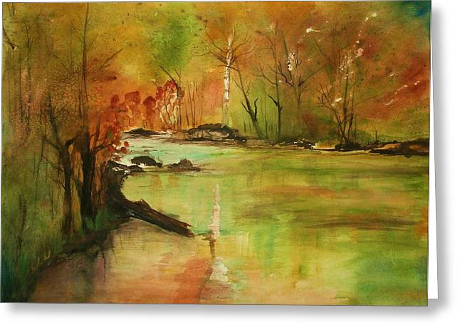Yellow Medicine River Greeting Card by Julie Lueders