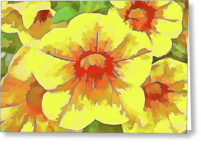 Yellow Million Bells Greeting Card