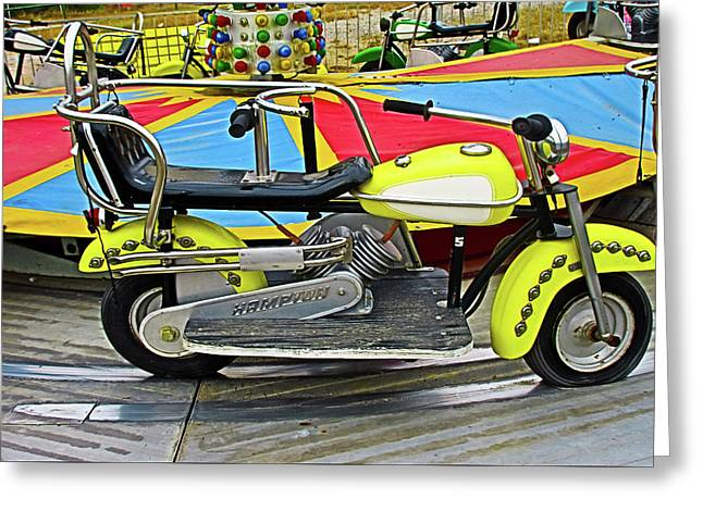 Yellow Motorcycle Ride Greeting Card by Tony Grider
