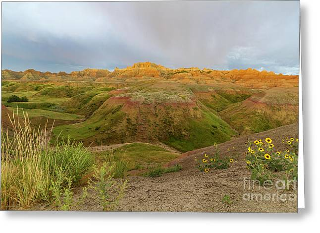 Yellow Mounds Morning Greeting Card