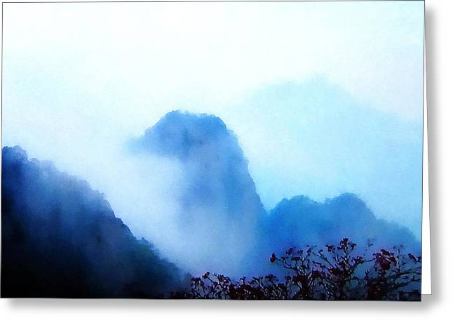 Huangshan Mountain - China, Zen Greeting Card by Stacey Chiew