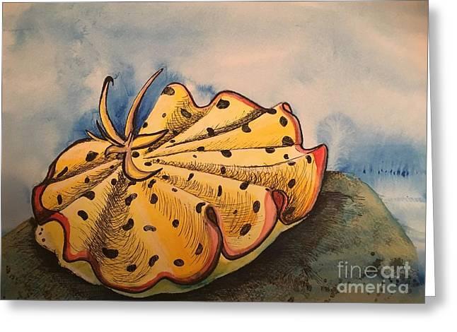 Yellow Nudibranch Greeting Card