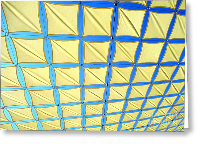Yellow On Blue Sky 1 Greeting Card by Randall Weidner