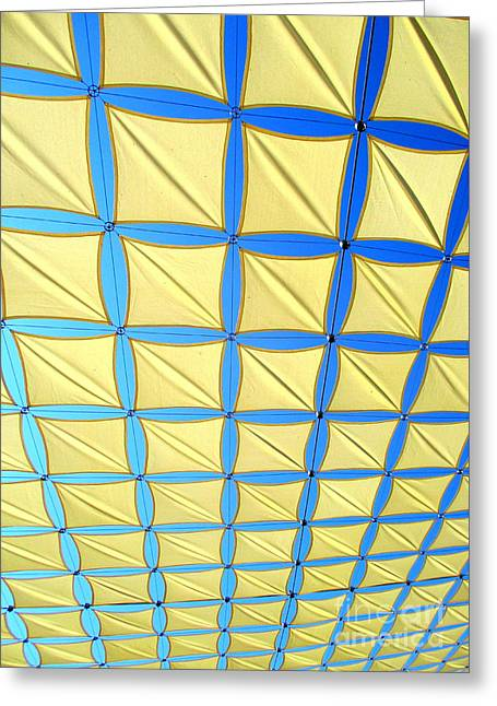 Yellow On Blue Sky 2 Greeting Card by Randall Weidner