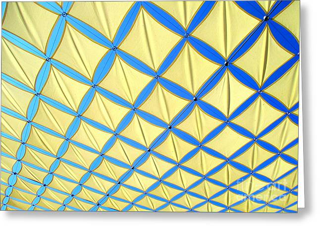 Yellow On Blue Sky 3 Greeting Card by Randall Weidner