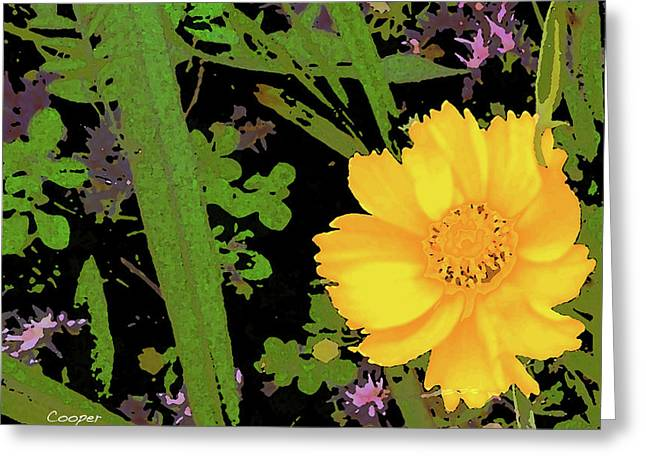 Yellow One Greeting Card