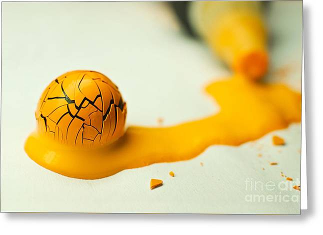 Yellow Painted Ball Greeting Card