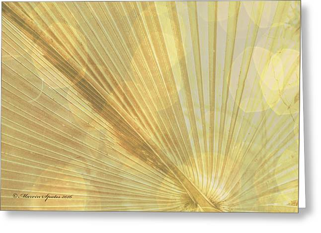 Yellow Palm Frond Lh Greeting Card