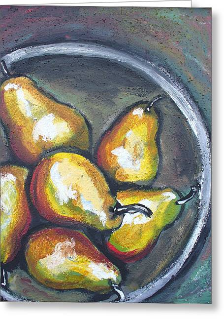 Yellow Pears Greeting Card