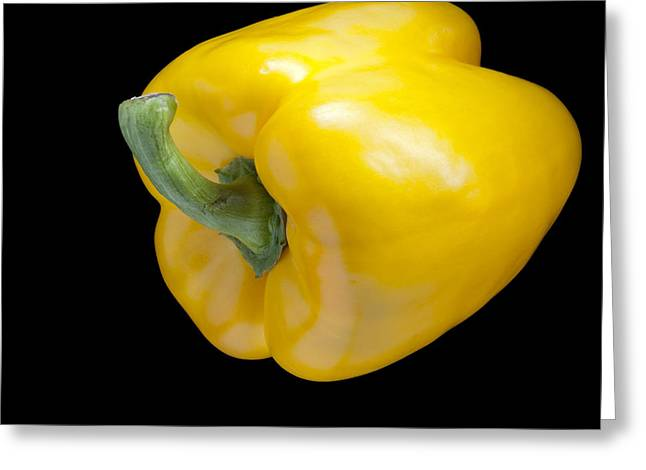 Paprika Greeting Cards - Yellow Pepper Greeting Card by Heiko Koehrer-Wagner