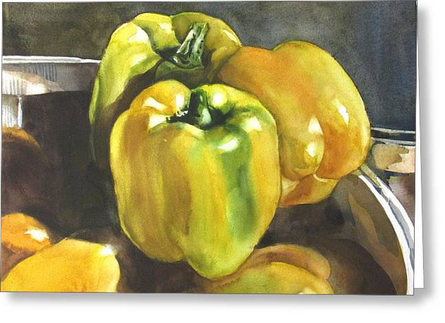 Yellow Peppers Greeting Card
