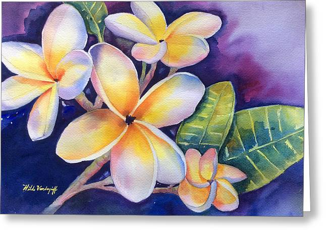 Yellow Plumeria Flowers Greeting Card