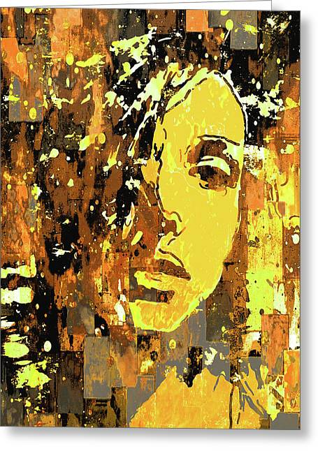 Greeting Card featuring the photograph Yellow Portrait by Jeff Gettis