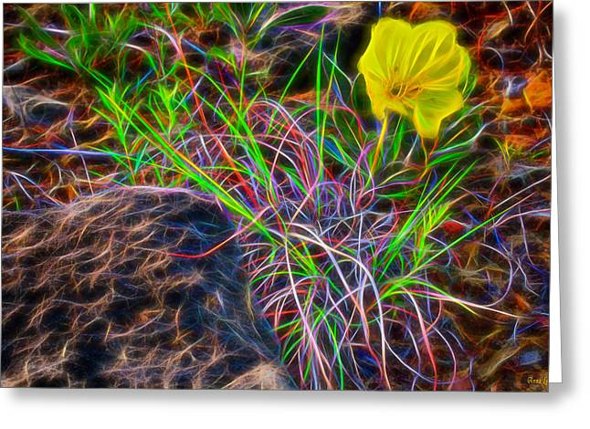 Yellow Primrose Electrify Greeting Card