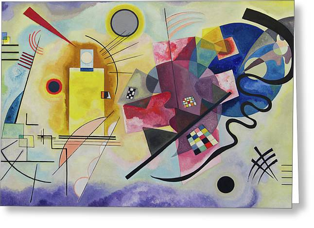 Yellow-red-blue Greeting Card by Wassily Kandinsky