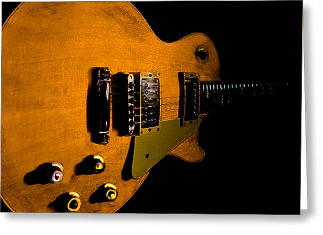 Yellow Relic Guitar Hover Series Greeting Card