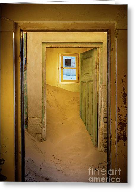 Yellow Room Greeting Card by Inge Johnsson