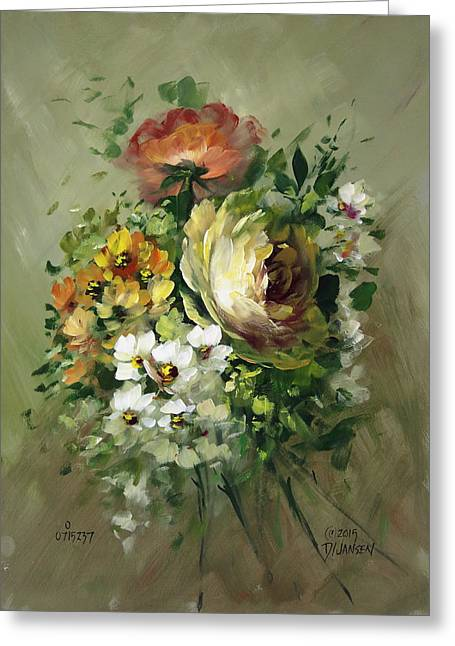 Yellow Rose And White Blossoms Greeting Card by David Jansen